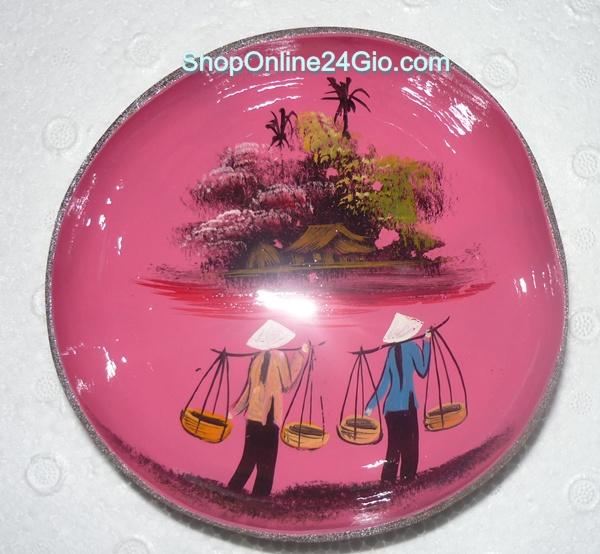 my nghe dua ben tre-handicraft-xo dua-gao dua-go dua- thu cong my nghe-dua dua-choi dua-rich coco-coconut hop tam xia rang tam dao - gao dua ve hoa van phong canh viet nam 3